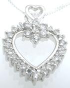 Plutus kkp5203 925 Sterling Silver Rhodium Finish CZ Tiffany Style Earrings