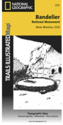 National Geographic TI00000209 Map Of Bandelier National Monument - New Mexico