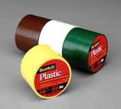 Scotch Extra Stretchy Coloured Plastic Tape - 3.8cm Width x 3.2m Length - 1 / Roll - Yellow