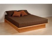Prepac Oak Queen Platform Bed