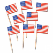 Beistle - 60100 - Pkgd U S Flag Picks