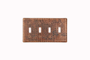 Premier Copper Products ST4 Switchplate - Quadruple Double Toggle Switch Cover
