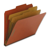 Nature Saver NAT01051 Classification Folders- Letter- 2 Partitions- Red