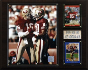 C & I Collectables 1215MONTRICE NFL Montana-Rice San Francisco 49ers Player Plaque