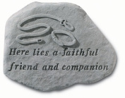 Kay Berry- Inc. 67920 Here Lies A Faithful Friend And Companion - Empty Collar Memorial - 15.5 Inches x 11.5 Inches