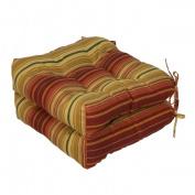Greendale Home Fashions OC6800S2-KINNABARI Set of Two 20 in. Outdoor Chair Cushions Kinnabari Stripe