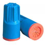 KING INNOVATION 25-Pack 300-600V Aqua Blue/Orange Safety-Sealed Waterproof Wire Connector