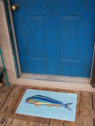 Betsy Drake DM010 Dolphin Fish Door Mat 18x26