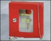 MMF Industries 201900007 SteelMaster, Emergency Key Box, 6-3/4W x 6-7/8H x 2D Inch, Red, Heavy-Gauge Steel