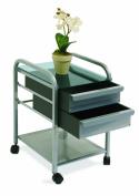 Studio Designs 10054 Futura - Vision 2 Drawer Organizer - Silver-Blue Glass
