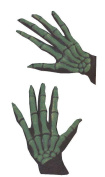 Costumes For All Occasions Fw8973Gr Gloves Skeleton Ovrsze Grn
