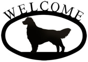Village Wrought Iron WEL-237-S Welcome Sign-Plaque - Retriever - Dog