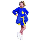 RG Costumes 91234-B-Y-S Small Cheerleader Costume - Blue-Yellow