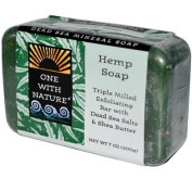 One With Nature One With Nature Dead Sea Mineral Hemp Soap Peppermint - 210ml