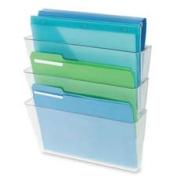 Deflect-O Corporation DEF73602RT Wall Pocket System- 3-Letter Pockets- 33cm .x10cm .x36cm .- Smoke