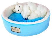 Aeromark C12HTL-MB Armarkat Pet Bed Cat Bed 14 x 14 x 14 - Sky Blue & Ivory