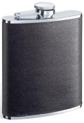 Visol VSET16-1142 Ano Full Black Leather 6oz Flask Gift Set