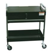 Sunex SUN8013ABK Service Cart with Locking Top & Drawer Black