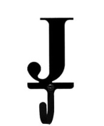 Village Wrought Iron WH-J-S Letter J Wall Hook Small