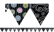 Creative Teaching Press CTP7145 Black And White Pennant Border