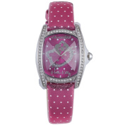 Hello Kitty CT. 7094SS-42 Stainless Steel Dark Pink Leather Watch