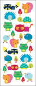 Sticko 473440 Puffy Classic Stickers-Animal Friends