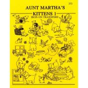 Aunt Marthas 324914 Aunt Marthas Iron-On Transfer Books-Kittens