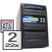 Produplicator A2DVDS22X320G 1-2 CD DVD Duplicator - Standalone Disc Duplication Copier - Multiple Target Burner Copy Tower