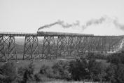 Buy Enlarge 0-587-46195-LP20x30 Steam Train passes over Valley Trestle Bridge- Paper Size P20x30