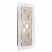 Access Lighting 62095-BS-FST Aquarius 1 Light Squares Wall Fixture - Brushed Steel