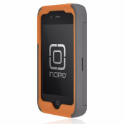 Incipio IPH-678 Stowaway Credit Card Case for iPhone 4-4S - Dark Gray-Orange