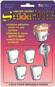 THE STIKKIWORKS CO. STK03020 STIKKIHOOKS 4-PK WHITE
