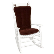 Greendale Home Fashions Jumbo Rocking Chair Cushion, Cherokee Solid, Wine