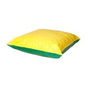 Foamnasium Large Shred Foam Floor Pillow, Yellow/Green