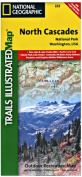 National Geographic TI00000223 Map Of North Cascades National Park - Washington