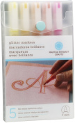 Martha Stewart Crafts Glitter Markers Set, Warm Spectrum