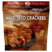 Crunch Master 36154 Roasted Garlic Multiseed Cracker