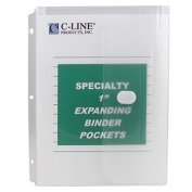 C-Line Products Inc CLI33747 Binder Pocket hook and loop Closure 10Pk Specialty Binderpocket Clear