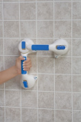 Mabis 521-1560-1924 20 Inch Suction Cup Grab Bar with Swivel Joint