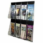 Deflect-O Corporation DEF56201 Pamphlet Wall Rack- 8-Pocket- 18-.25in.x2-.88in.x23-.50in.- Clear