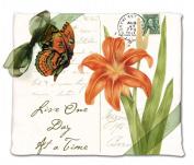 Alices Cottage AC34436 Orange Butterfly Flour Sack Towel-set of 2