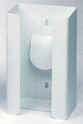 Horizon Manufacturing 5102-W 1-Box Vertical Plastic Glove Dispenser - White Heavy- Duty Plastic