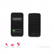 Macally Flip Flip Cover Case For iPhone 4S-4 Black