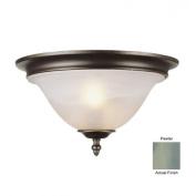 Trans Globe Lighting 6390-1 PW 2 Light Flush-mount - PEWTER