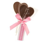 Astor Chocolate ULOLLMD12 Mothers Day Creamy Milk Chocolate Heart Lollipop - 12 Pieces
