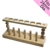 C And A Scientific 97-4606 Wooden Test Tube Rack - Holds 6 Test Tubes