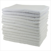 Early Childhood Resources ELR-0213 12-Pack Kiddie Cot Blankets - White