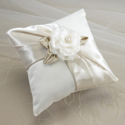 Lillian Rose RP470 T Taupe Rose Ring Pillow
