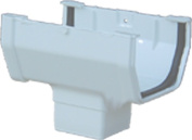 GENOVA PRODUCTS INC RW104 WHITE GUTTER DROP OUTLET