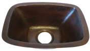 Novatto TCB-002AN CORDOBA Rectangle Copper Bar and Prep Sink with Antigua Finish 17-Inch Width